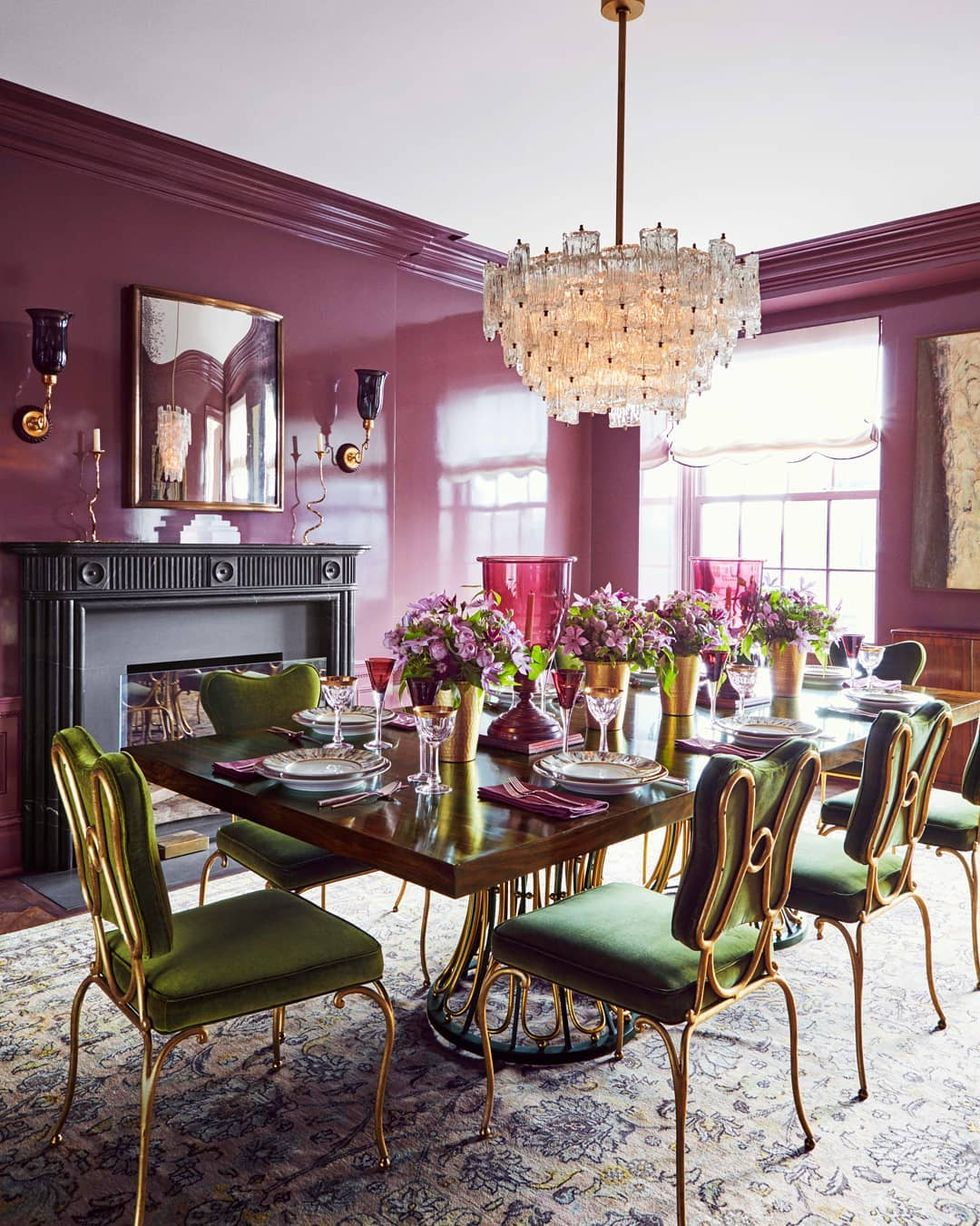 These Are The Color Trends Top Designers Are Loving Most For 2020 Dining Room Blue Plum Walls Decor