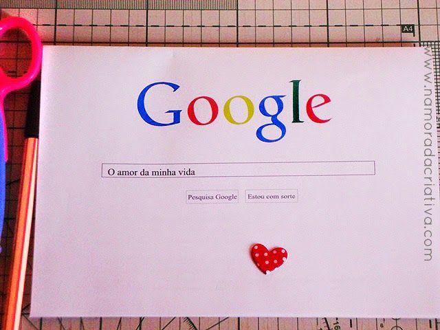 """1a541fef23e174 Cartão Google """"O homem da minha vida""""   papel cartão   Namorada ..."""