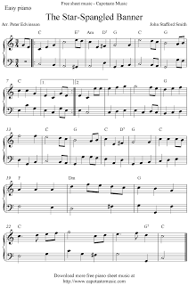 free sheet music scores free easy piano sheet music score the star spangled banner organ. Black Bedroom Furniture Sets. Home Design Ideas