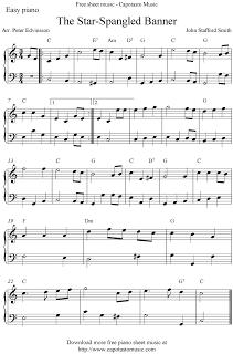 Free Sheet Music Scores Free Easy Piano Sheet Music Score The Star Spangled Banner Easy Piano Sheet Music Piano Sheet Music Sheet Music