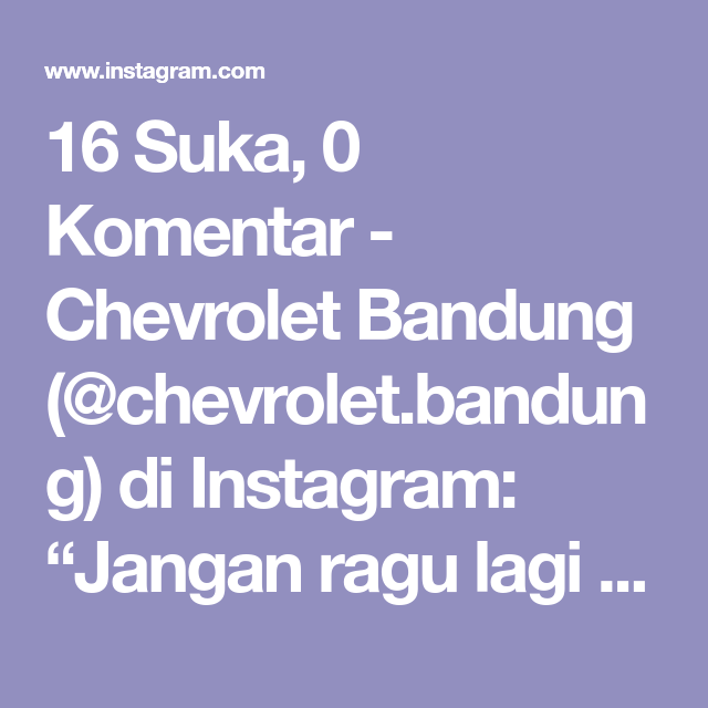 Pin On Chevrolet Bandung