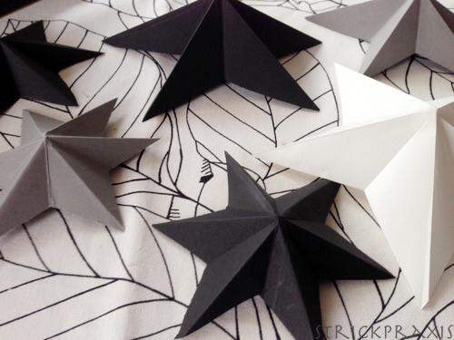Ganz einfache 3D Sterne falten #julestjernerpapir