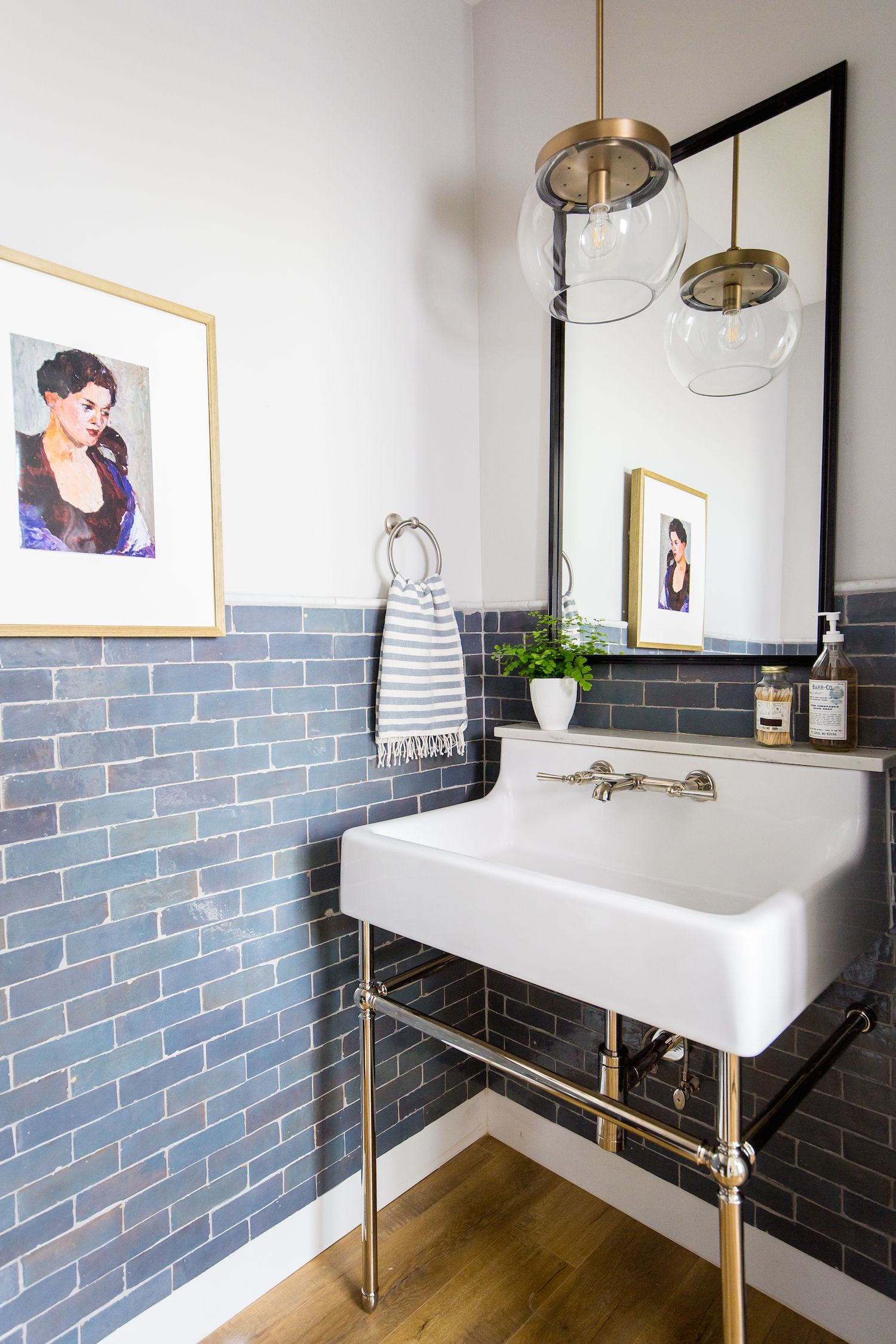 Powder Bathroom Makeover With Ferguson Bath Kitchen And Lighting