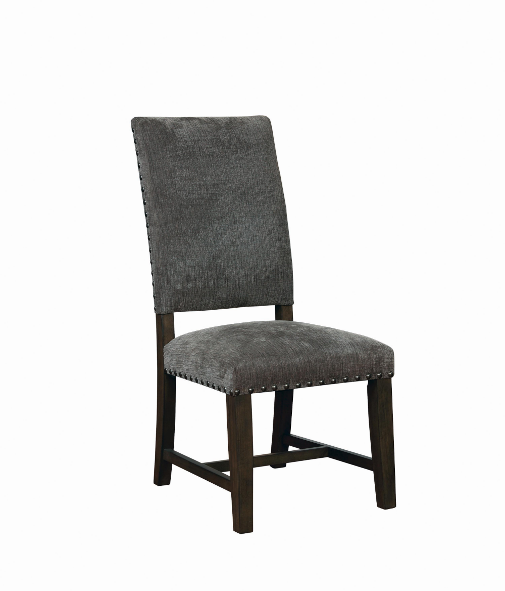 Scott Living Contemporary Grey Upholstered Parson Chair Coaster