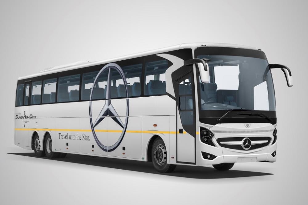 Mercedes Benz 2441 Super High Deck Coach India S Longest Bus Launched Trucks Buses Mercedes Bus Luxury Bus Mercedes Benz