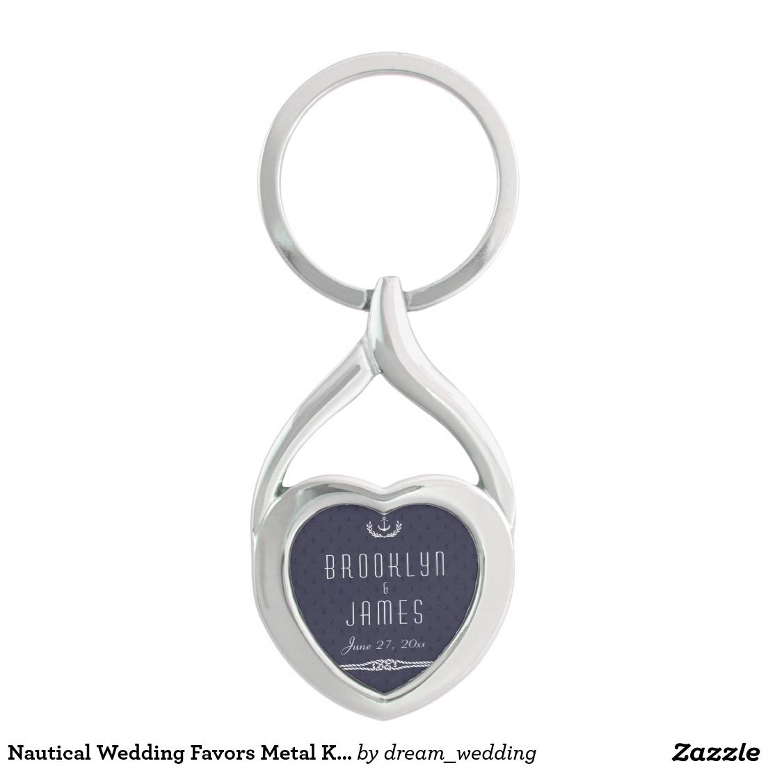 Nautical Wedding Favors Metal Keychain Anchors | Nautical wedding ...