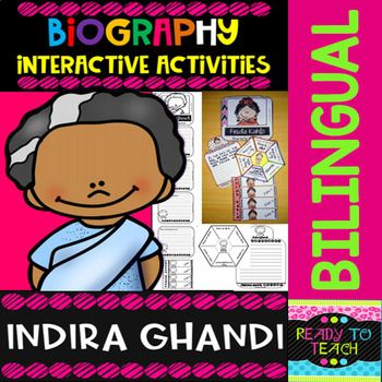 ENGLISH VERSIONYou will find a set of 4 different tasks to work on the biographies of Indira Ghandi. There are 4 interactive activities to be done:Interactive Task 1: Students have to search facts about the biography of this famous person and write those facts related to his/her early and family li...