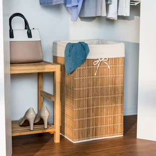 Rolling Wicker Laundry Basket Joss Main