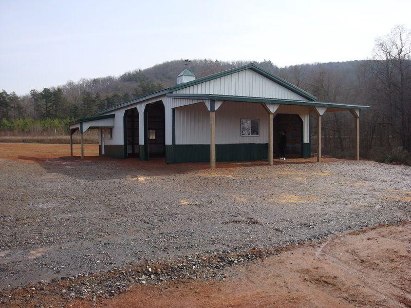 30x50x12 w/8x16 shed & 12x30 porch