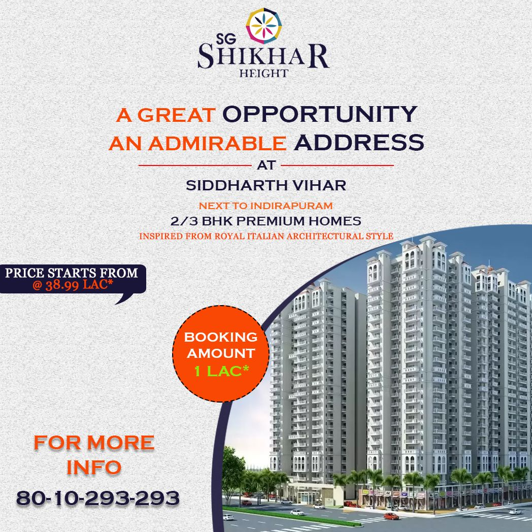 Builder Sg Estate Limited Location Siddharth Vihar Ghaziabad Price Starts From 40 Lac Fully Furnished Sizes Available 1054 In 2020 Site Plan Height Location Map