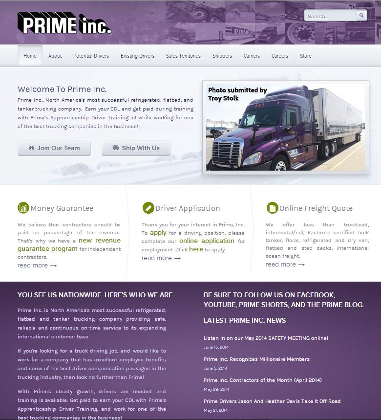 Prime Inc., North America's most successful refrigerated