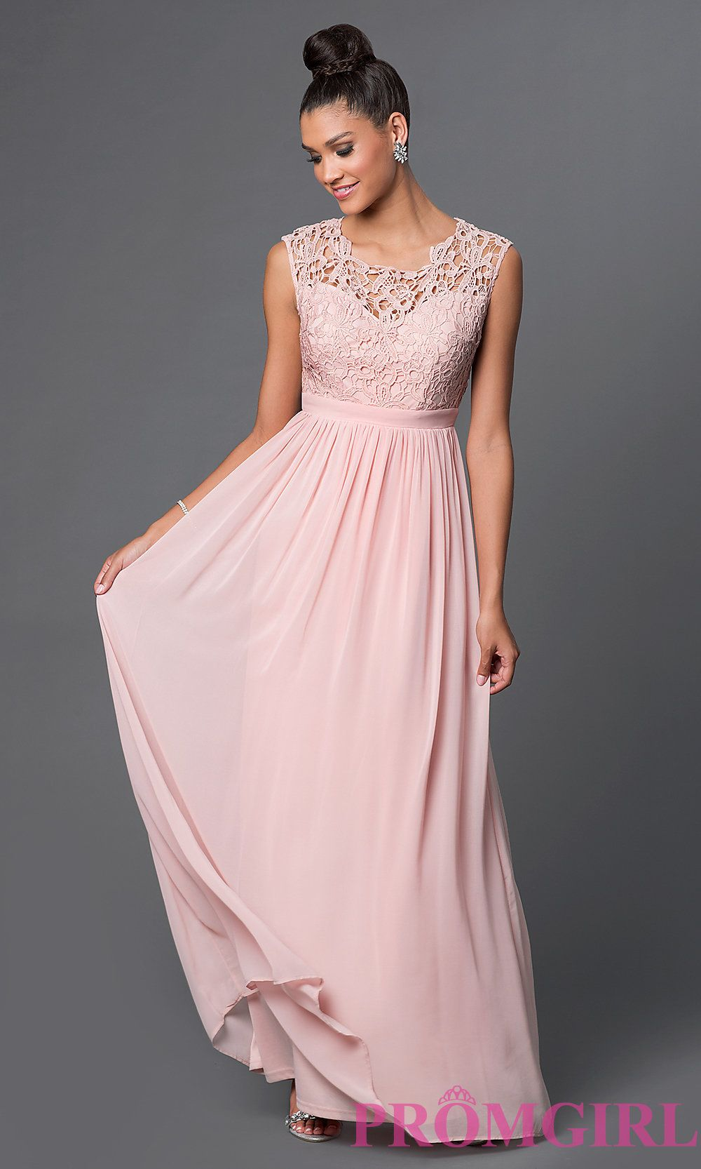 Evening Dress with Sweetheart Neckline and Sleeves