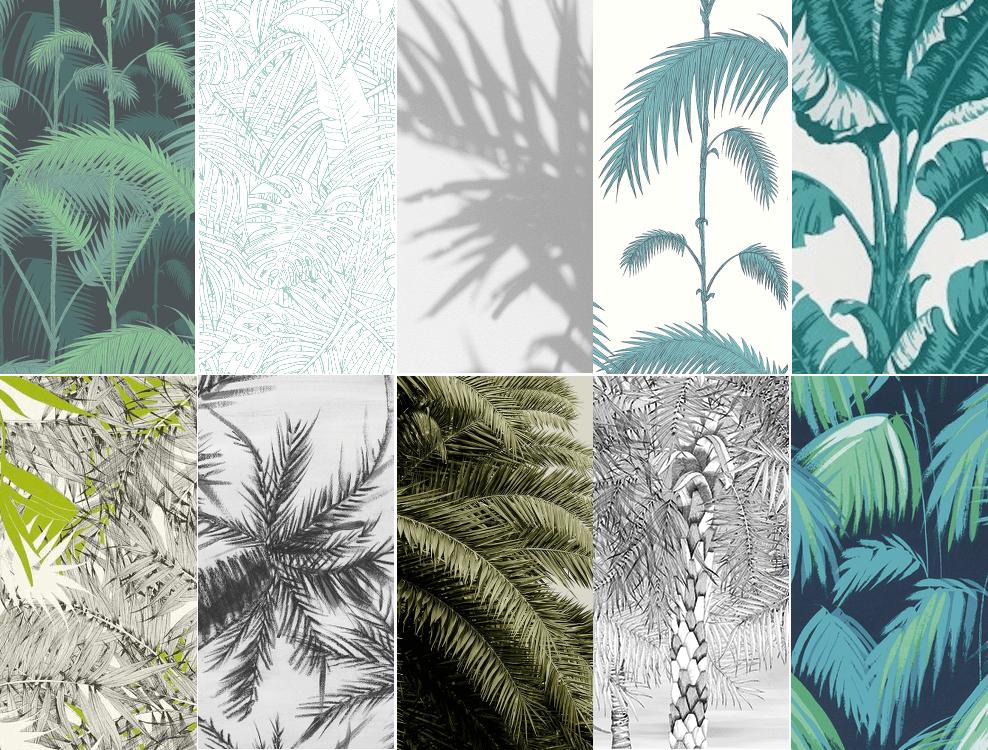 10 papiers peints palmiers en vente chez au fil des - Produit pour decoller papier peint ...