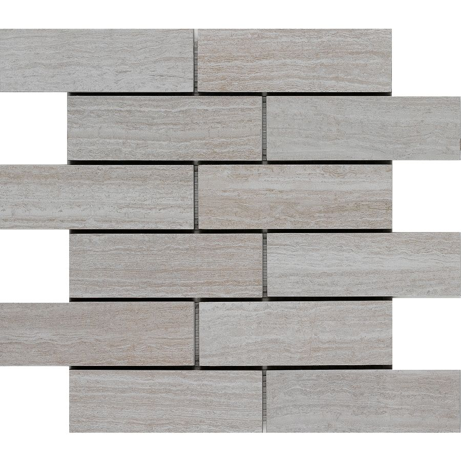 Shop Style Selections 12 In X Leonia Silver Glazed Porcelain Listello Tile