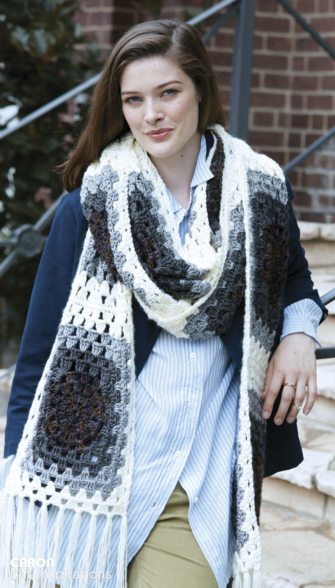 Super Granny Crochet Scarf Super Scarf - Patterns | Yarnspirations ...