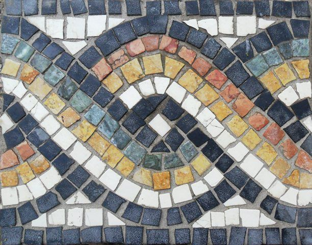 Roman geometric mosaics border patterns on pinterest - Azulejos roman ...