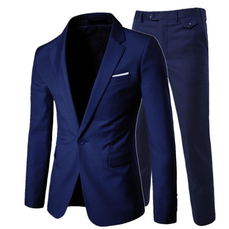 0d78e54b02f suit + vest + pants 3 pieces sets   Men s one buckle and two button business  suits blazers jacket coat + trousers +waistcoat 1