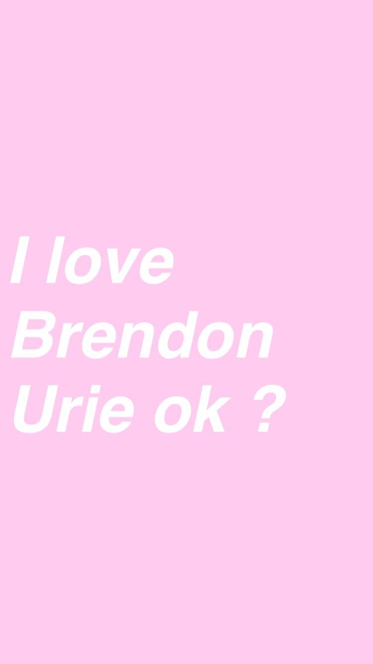Tumblr Brendon Urie Love Happy Birthday Brendon Brendon