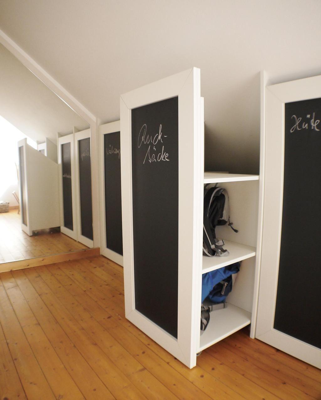 Dachschragen Aufbewahrung Bilder Ideen Kleiderschrank Fur Dachschrage Dachboden Renovierung Schrank Dachschrage