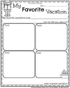 My favorite vacation essay