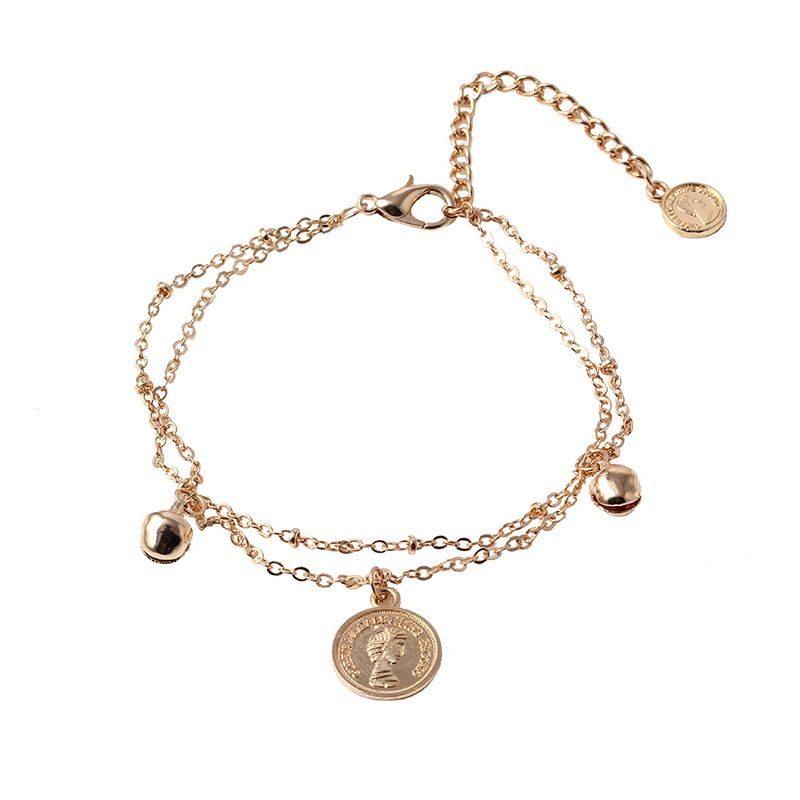 New Fashion Jewelry Gold-color Chain Jewelry Coin Pendant Multilayer bracelet Factory Price wholesales Bracelets& Bangles BS566