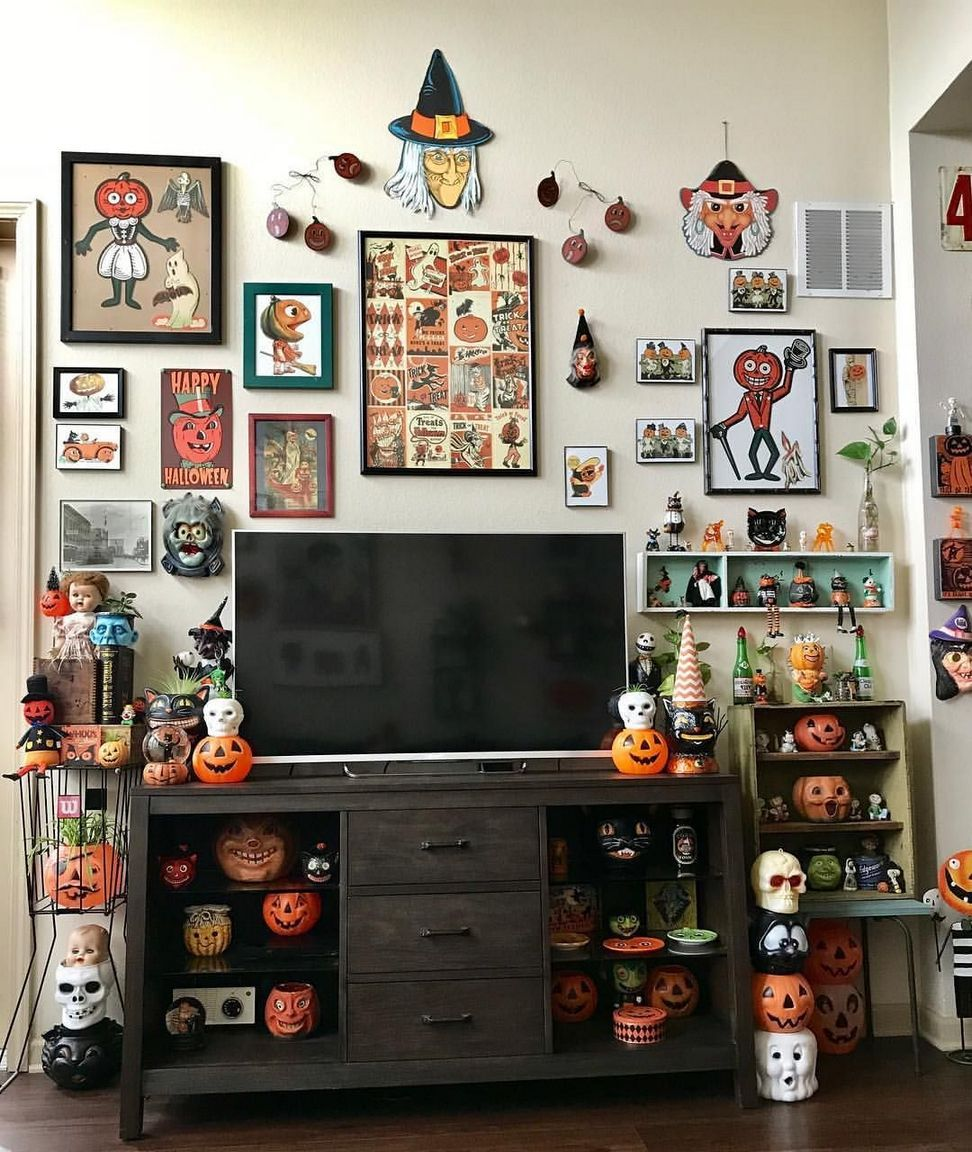 Halloween Home Design Ideas: 40+ Vintage Halloween Decor With Toys Ornaments Ideas