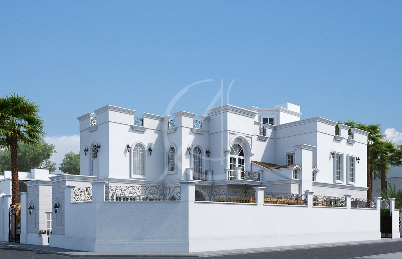 Classic Saudi Arabian Villa Exterior Design 4 Exterior Design Modern Landscape Design Landscape Design