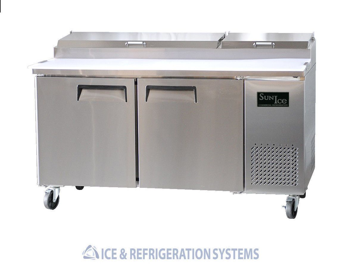 Stainless Steel 67 Commercial 2 Door Pizza Prep Table Refrigerator Cooler Fr With Images Refrigerator Cooler Coolers For Sale Commercial Kitchen Equipment