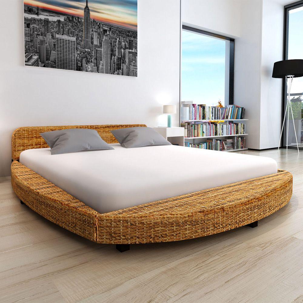 Bed Frame Super King Size Bedroom Dark Brown Furniture Dorm Guest Room