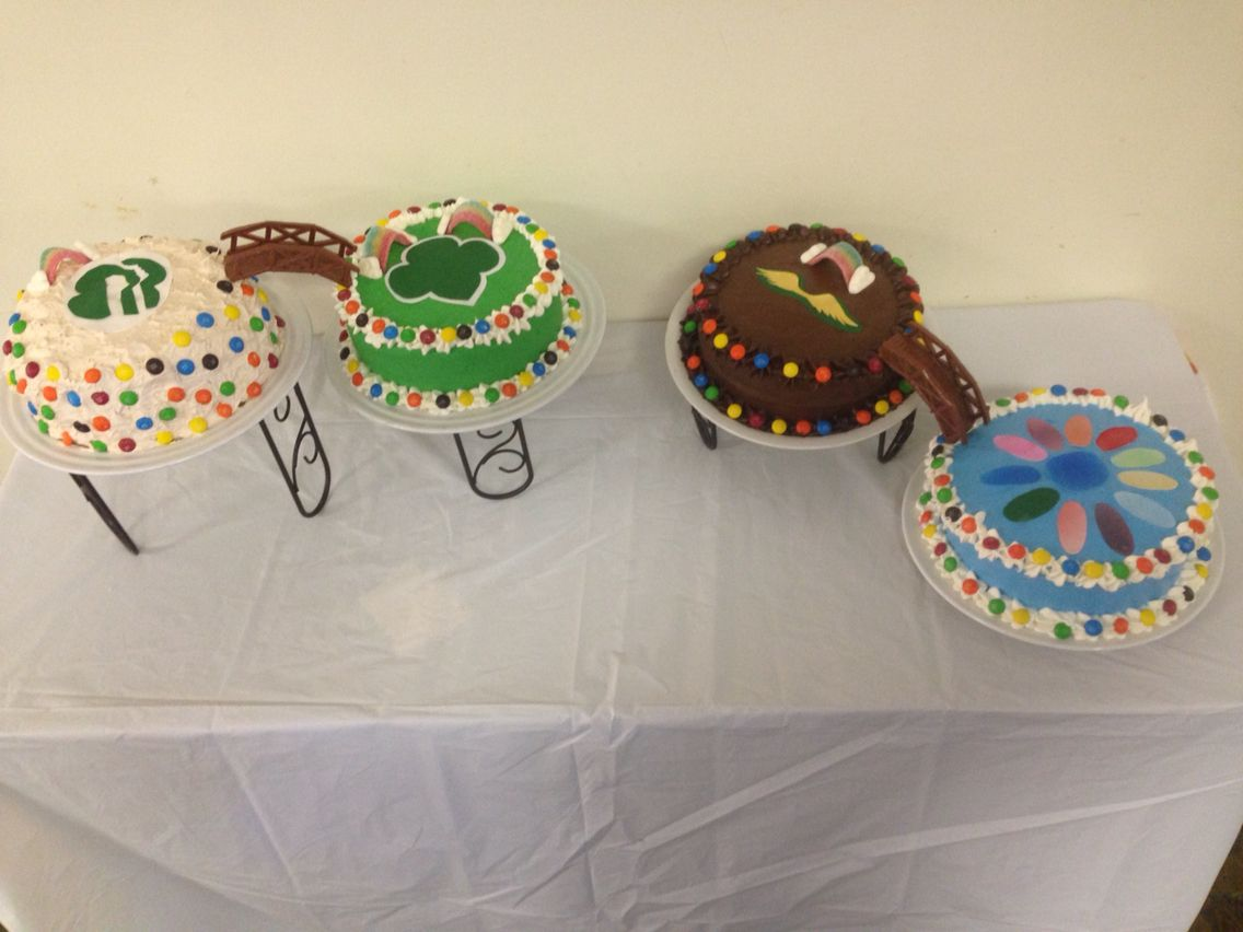 Cake Ideas For Girl Scouts : Girl Scout bridging ceremony daisy brownie junior cadette ...