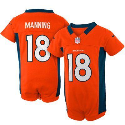 Nike Peyton Manning Denver Broncos Newborn Game Romper Jersey - Orange a73f13430