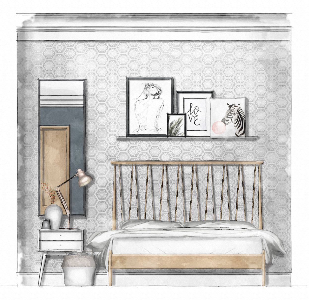 Bedroom Elevations Interior Design Elevation Blocks What: #7 Rendering Floor Plans & Elevations