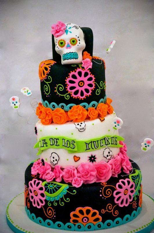 Dia De Los Muertos Cake Cakes Cupcakes Pop Cakes I Like