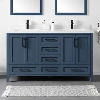 Ove Decors Lourdes 60 Bath Vanity In 2020 Blue Bathroom Vanity Double Vanity Bathroom Bath Vanities