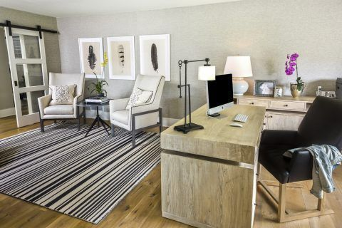 Modern Country House Home Office - Transitional Design by R