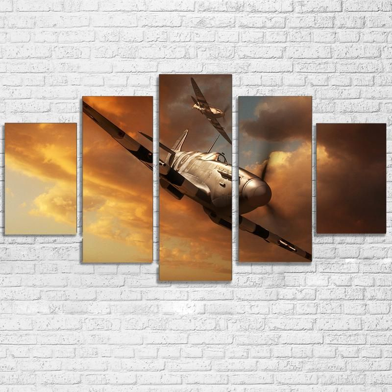 Dunkirk Spitfire Airplane Framed Canvas Canvas Wall Decor Canvas Wall Art Wall Art Living Room