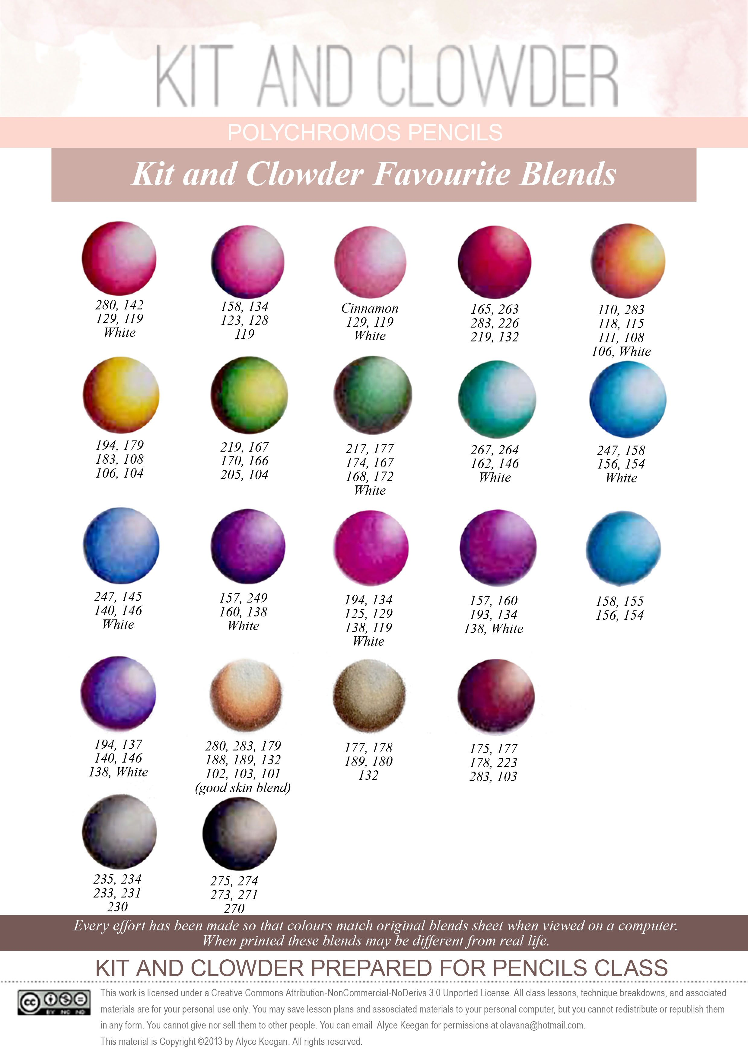 Polychromos Favorite Colored Pencil Blends
