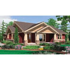 The House Designers THD 5258 Builder Ready Blueprints to Build a Craftsman House Plan with Crawl Space Foundation 5 Printed Sets