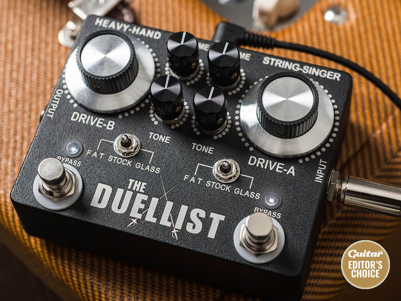 Review: King Tone The Duellist guitar pedal. Promising a new take on two classic overdrive pedals in one unit, is it time to crown a new king of tone?