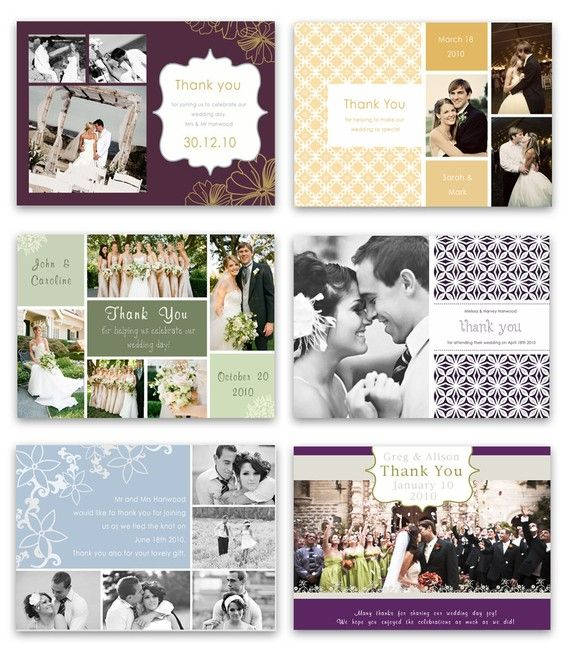When Do You Send Out Wedding Invitations: Mini Template Pack. 10 Wedding Thank You Card Designs
