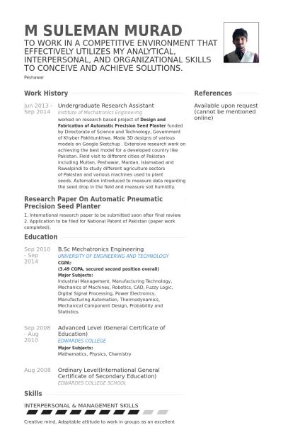 Undergraduate Research Resume Research Assistant Resume Undergraduate