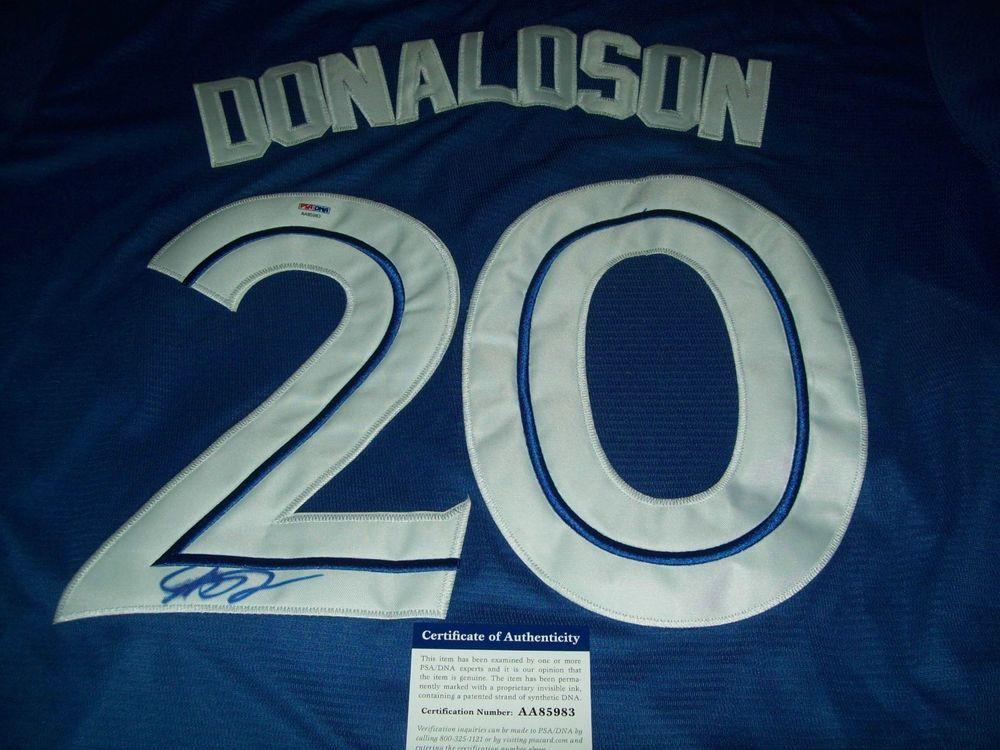 outlet store 7740d 3b4dc JOSH DONALDSON AUTO TORONTO BLUE JAYS SIGNED JERSEY PSA/DNA ...