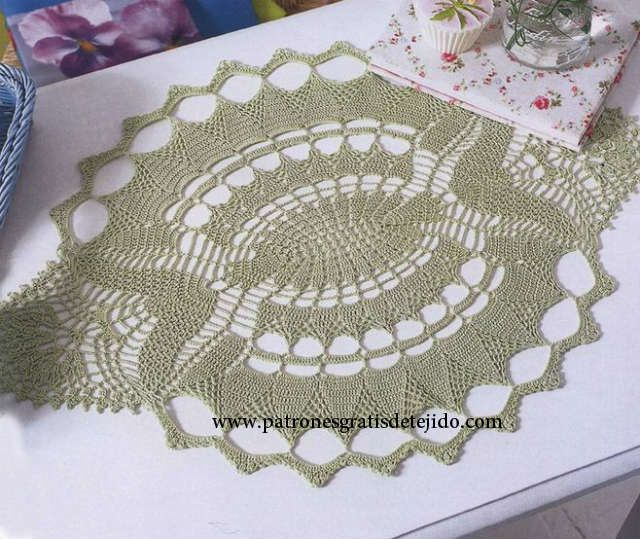 17 Patrones de Carpetas Crochet / Free Crochet Doily Patterns ...