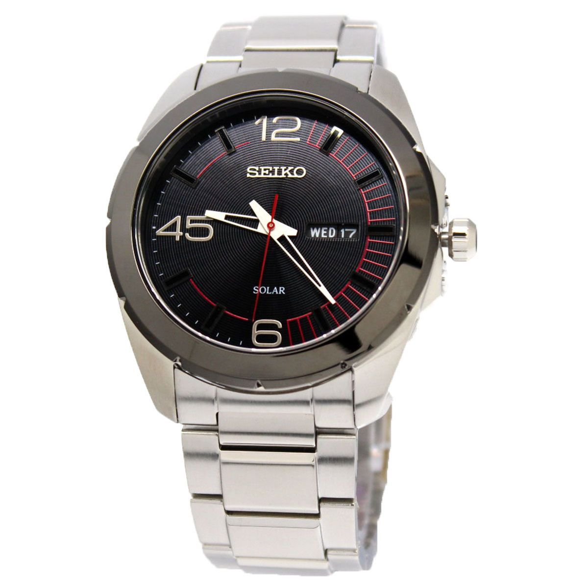 Seiko Mens Analog Business Solar Watch Sne285p1 Products Srpb01