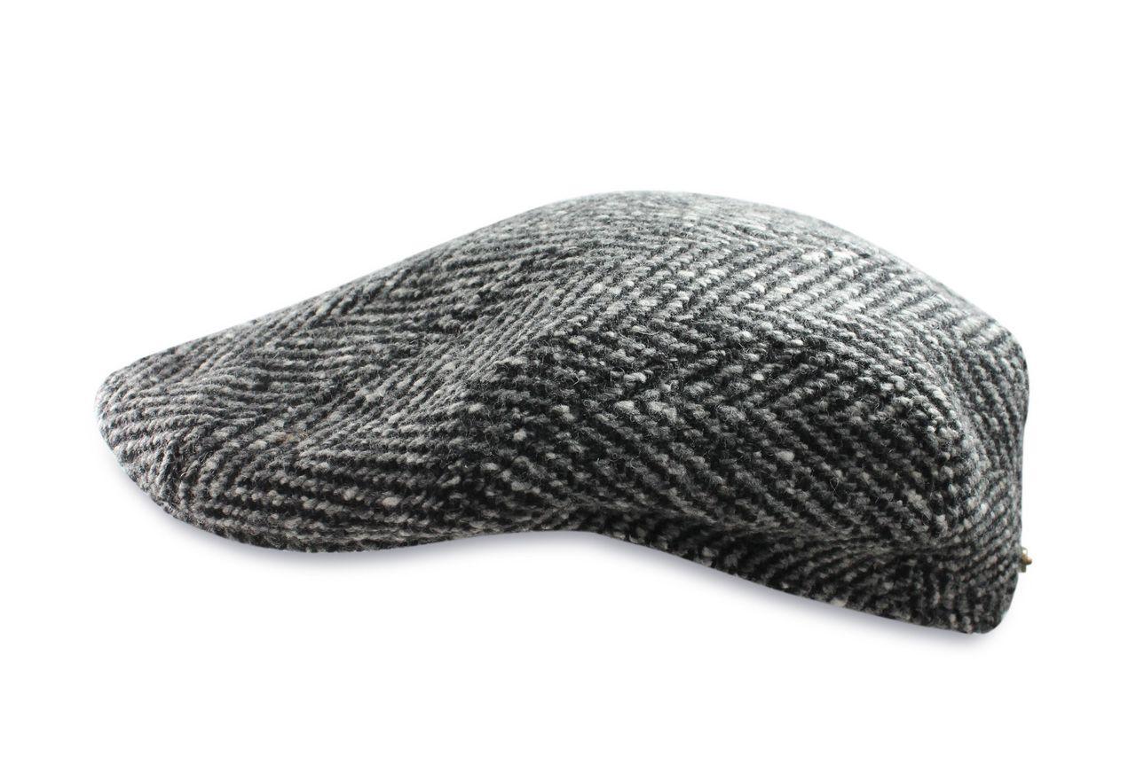 Stetson Hatteras Harris Tweed Herringbone Wool Flat Cap 63f8d56980e4