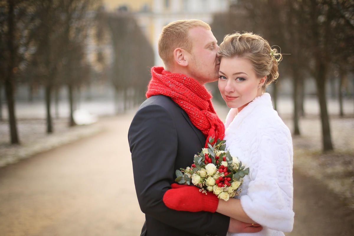 Свадебные фотографии в ноябре