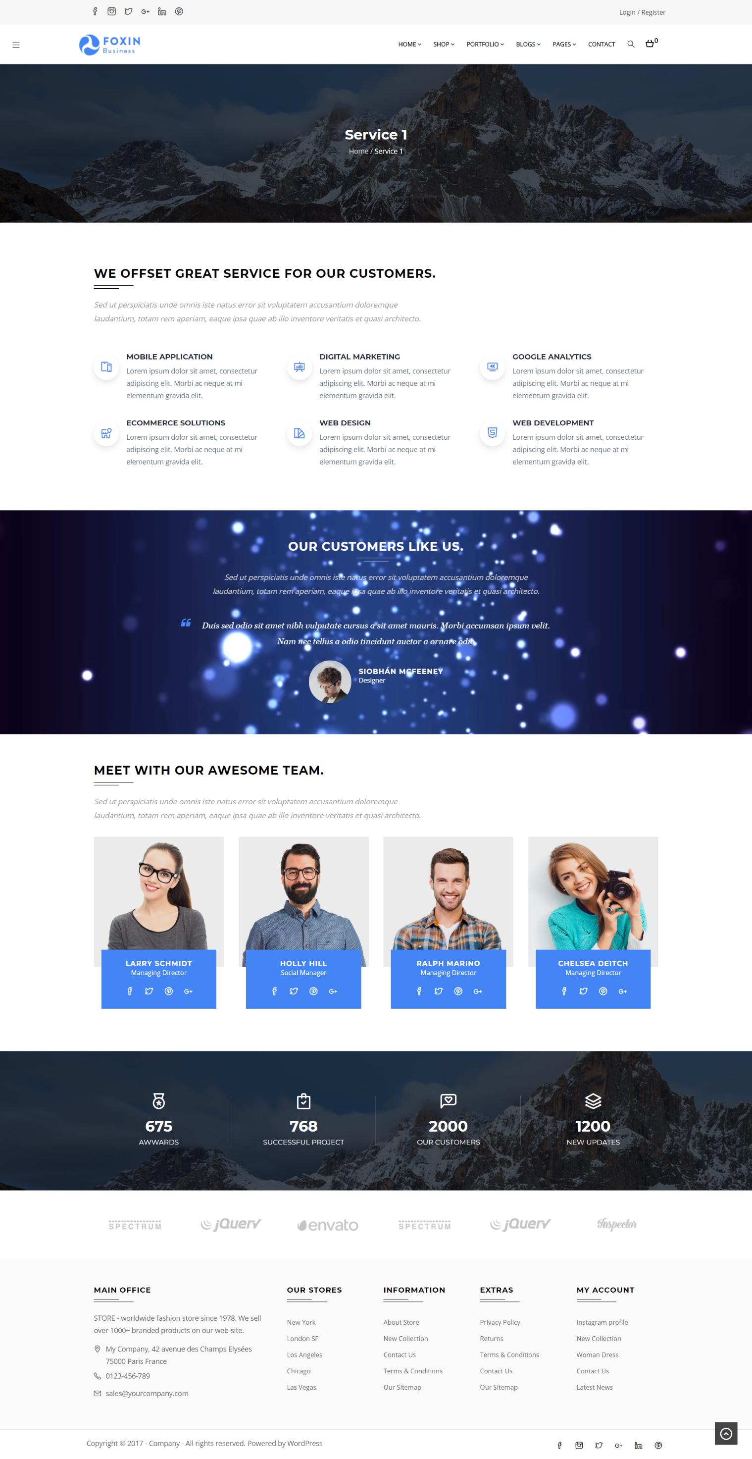 Clean Material Design Service Page Web Design Inspiration Business Wordpress Themes Web Design Inspiration Web Design