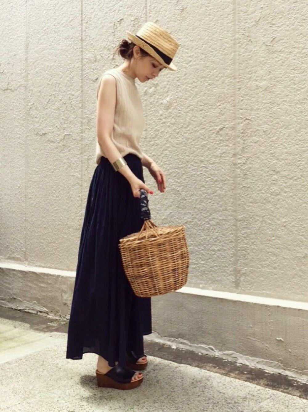 ari☆さんの「WOMEN UVカットワイドリブノースリーブセーター(UNIQLO)」を使ったコーディネート