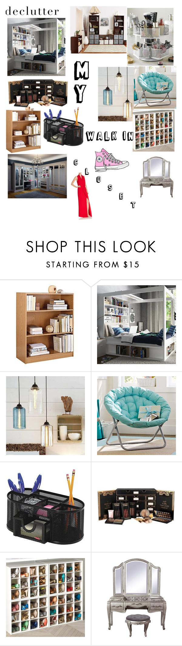 """My Walk in Closet"" by olliepea ❤ liked on Polyvore featuring interior, interiors, interior design, home, home decor, interior decorating, Ameriwood, PBteen, Rolodex and Parker"
