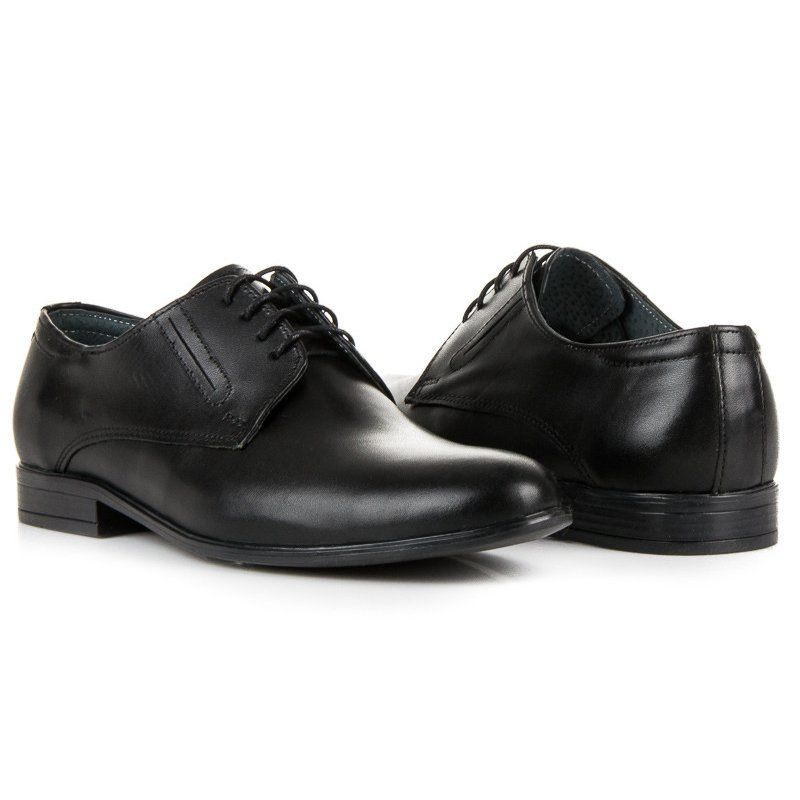 Polbuty Meskie Lucca Eleganckie Czarne Polbuty Lucca Dress Shoes Dress Shoes Men Oxford Shoes